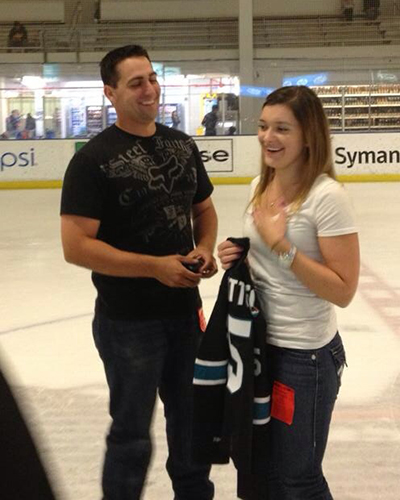 Image 10 of A Surprise Proposal on the Ice | Cecelia and JR