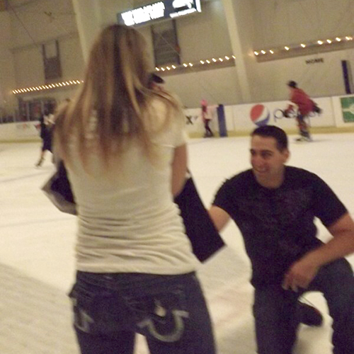 Image 3 of A Surprise Proposal on the Ice | Cecelia and JR