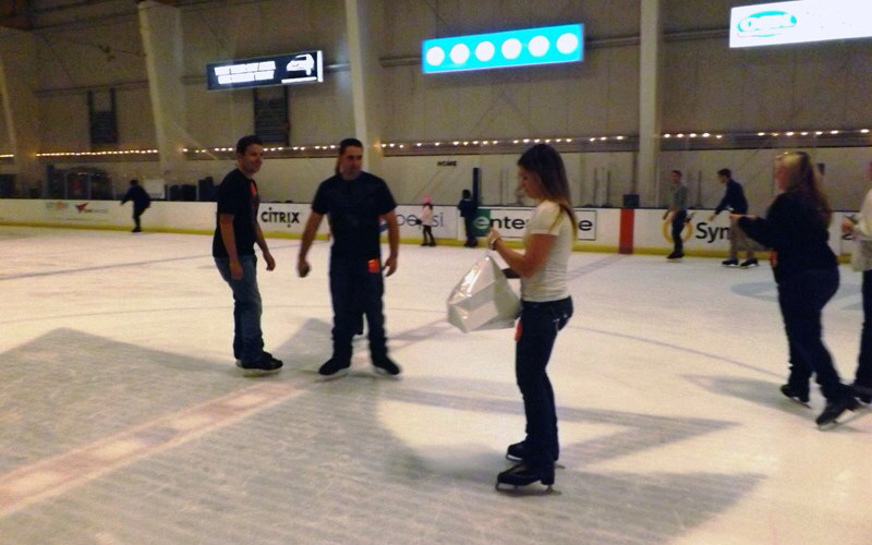 Image 2 of A Surprise Proposal on the Ice | Cecelia and JR