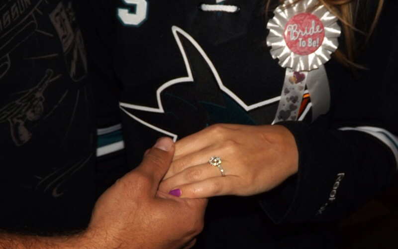 Image 9 of A Surprise Proposal on the Ice | Cecelia and JR