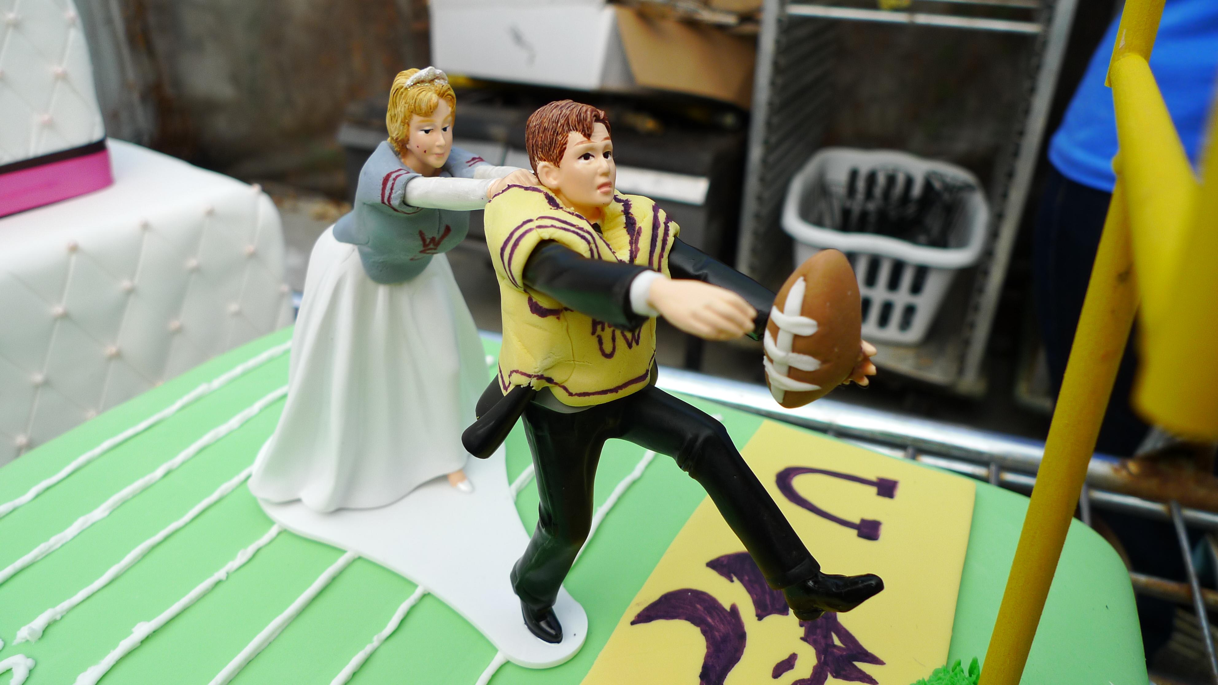 Huskies Groom's Cake