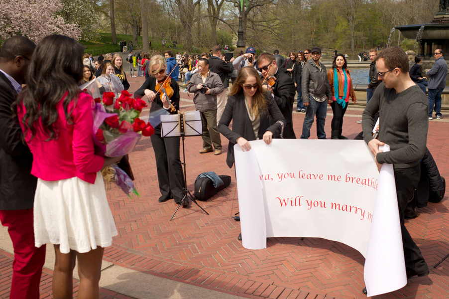 Image 10 of Central Park Marriage Proposal