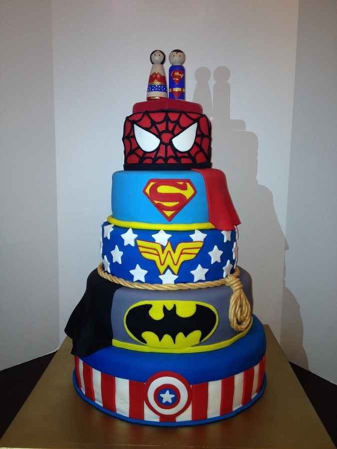 Superhero Groom's Cake 1