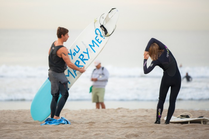 Image 12 of Awesome Surfing Marriage Proposal | Rob and Jessica