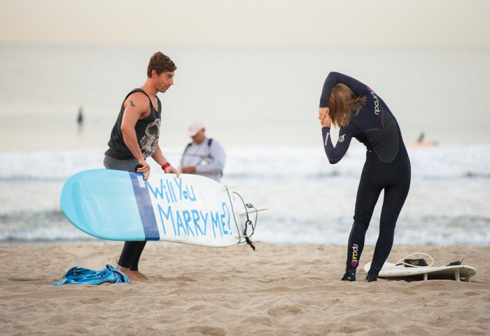 Image 13 of Awesome Surfing Marriage Proposal | Rob and Jessica