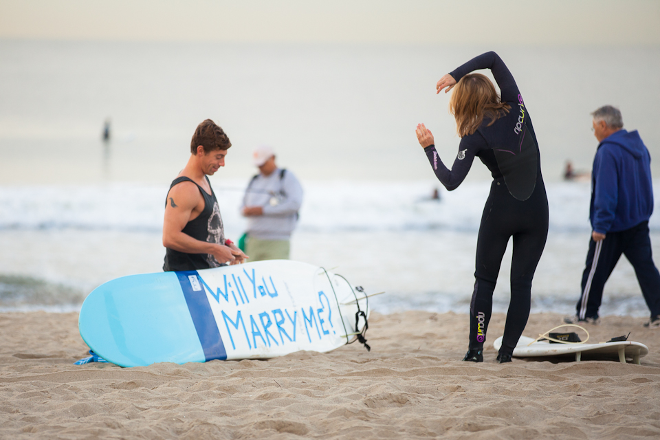 Surfing Marriage Proposal Cool Ideas 1075
