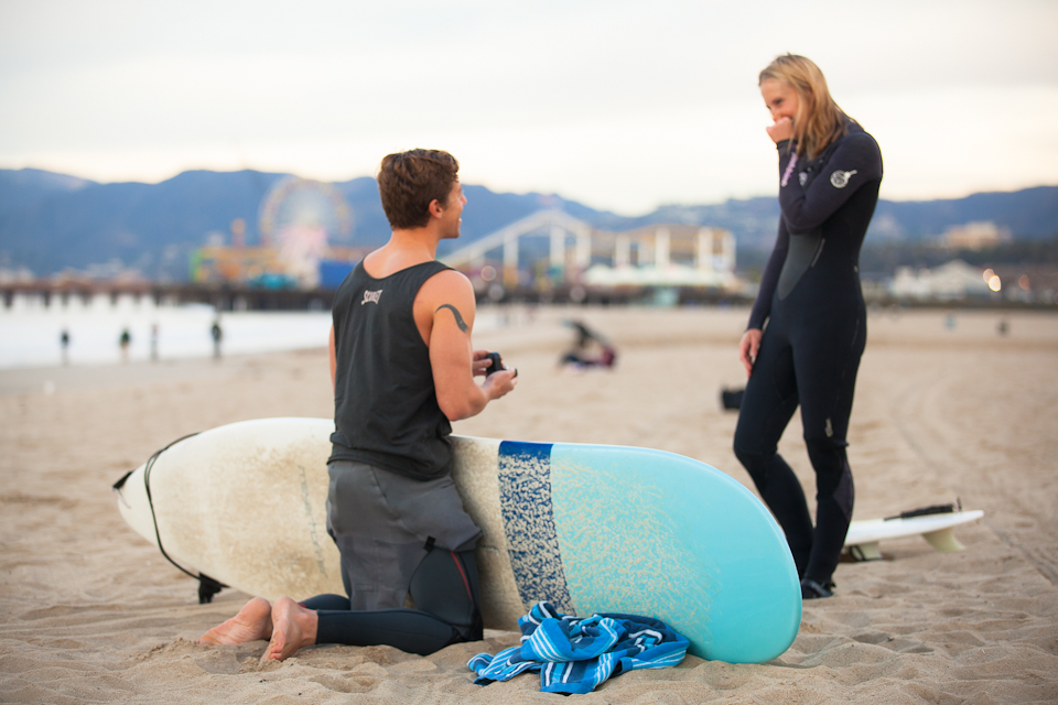 Surfing Marriage Proposal