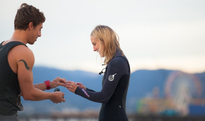 Image 22 of Awesome Surfing Marriage Proposal | Rob and Jessica