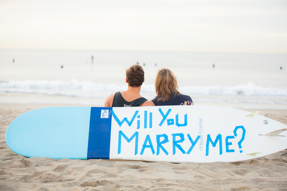 Surfing Marriage Proposal _ Cool Marriage Proposal Ideas_1210
