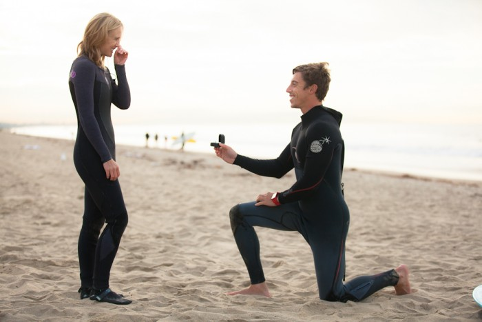 Image 1 of Awesome Surfing Marriage Proposal | Rob and Jessica