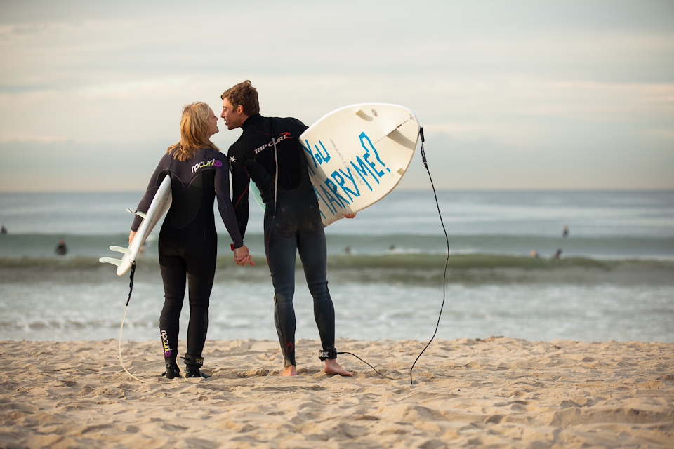 Image 34 of Awesome Surfing Marriage Proposal | Rob and Jessica