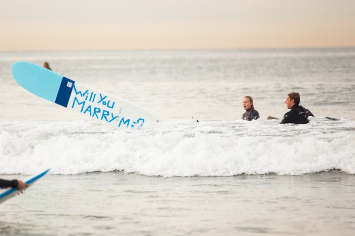 Image 33 of Awesome Surfing Marriage Proposal | Rob and Jessica