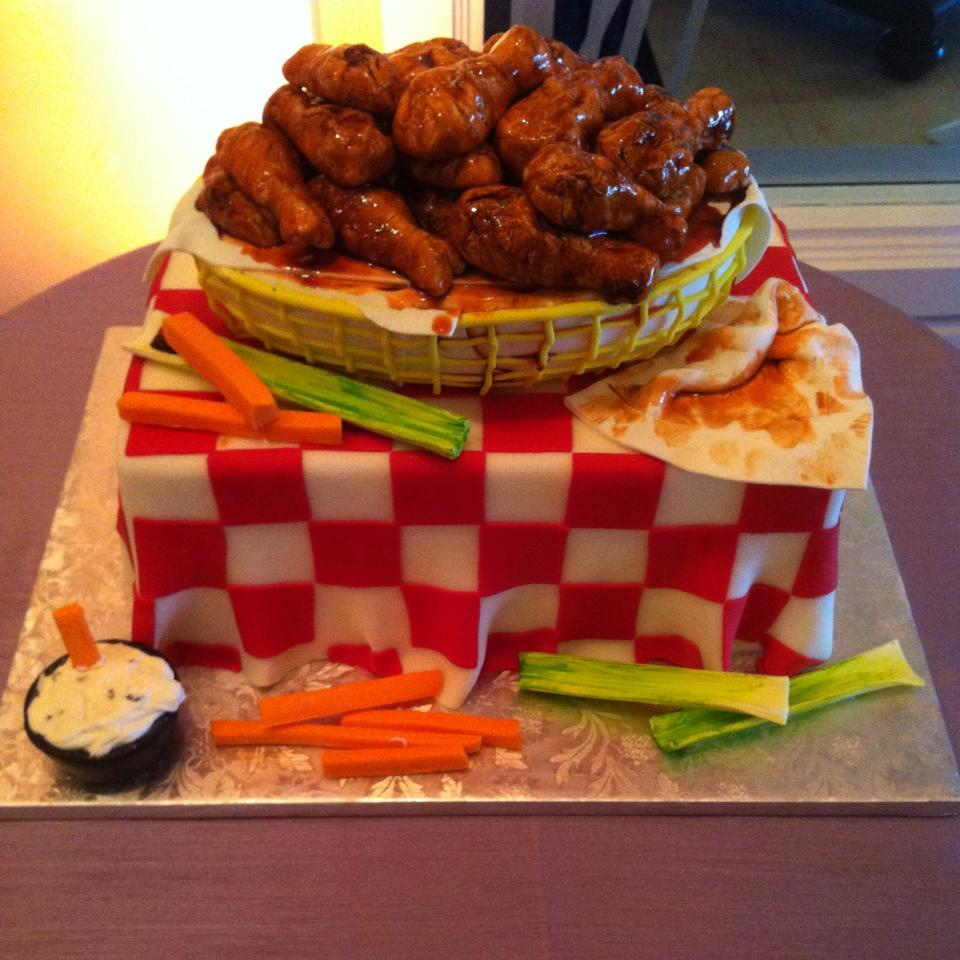 Wings GRoom Cake