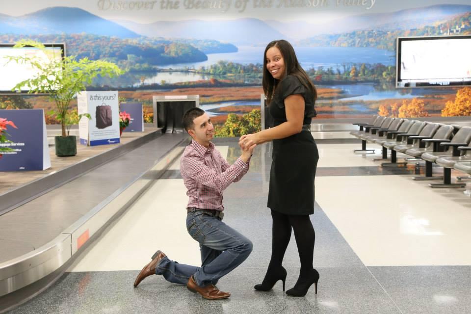 Image 1 of Allison & Juan Carlos - Surprise Airport Proposal