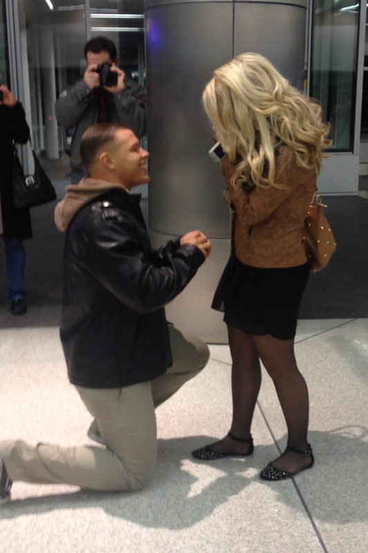 Image 1 of Gabrielle and Christian | Airport Proposal