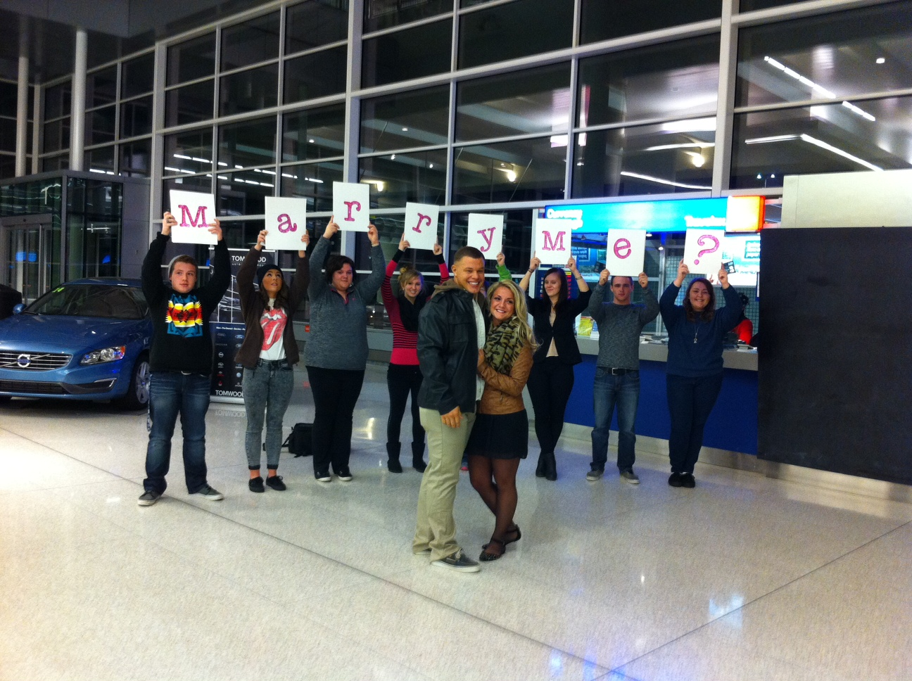 Image 8 of Gabrielle and Christian | Airport Proposal