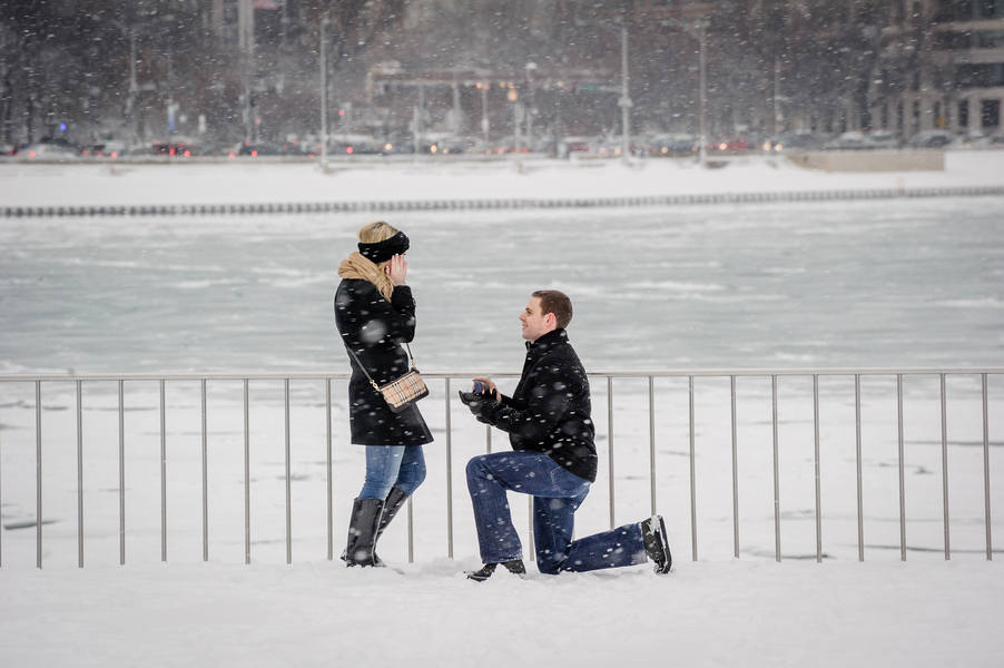 Image 17 of A Snowy Proposal in Chicago