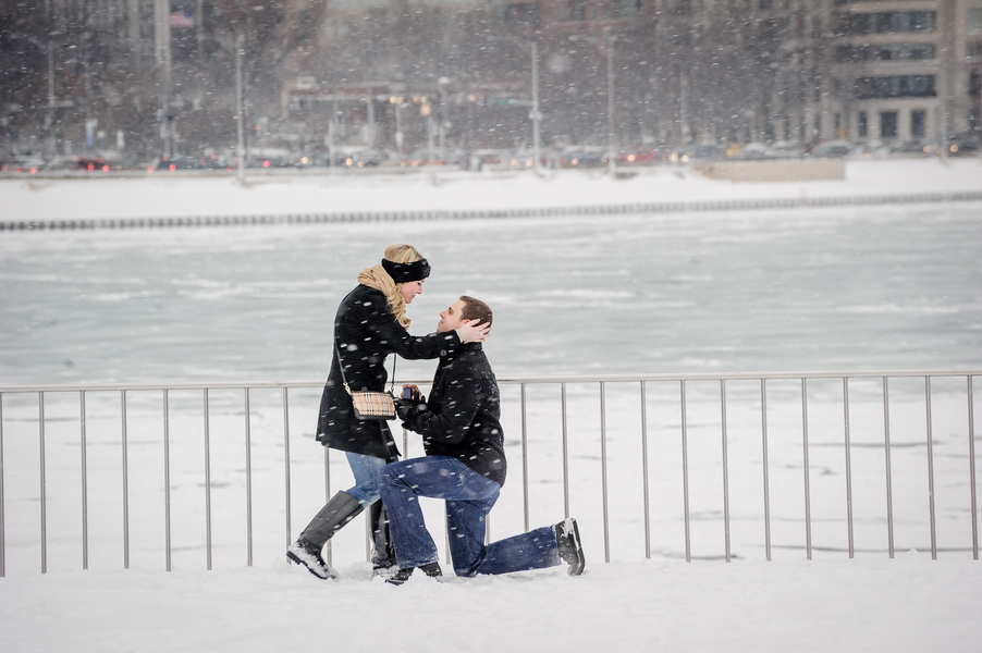 Image 11 of A Snowy Proposal in Chicago