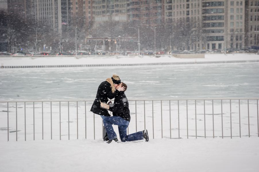 Image 12 of A Snowy Proposal in Chicago
