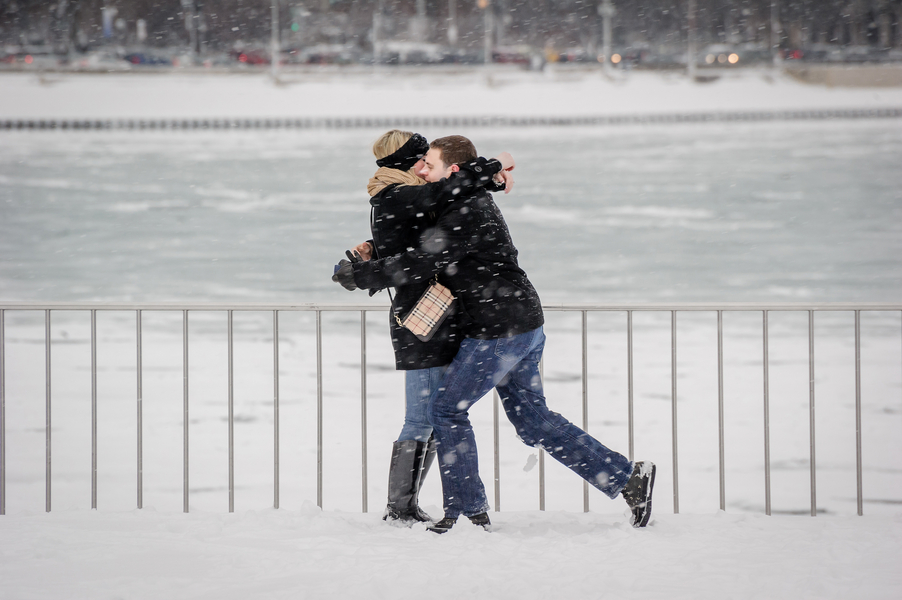 Image 14 of A Snowy Proposal in Chicago