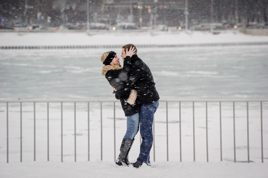 Image 15 of A Snowy Proposal in Chicago