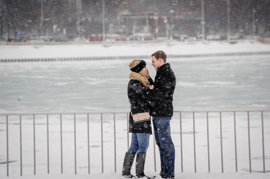 Image 16 of A Snowy Proposal in Chicago