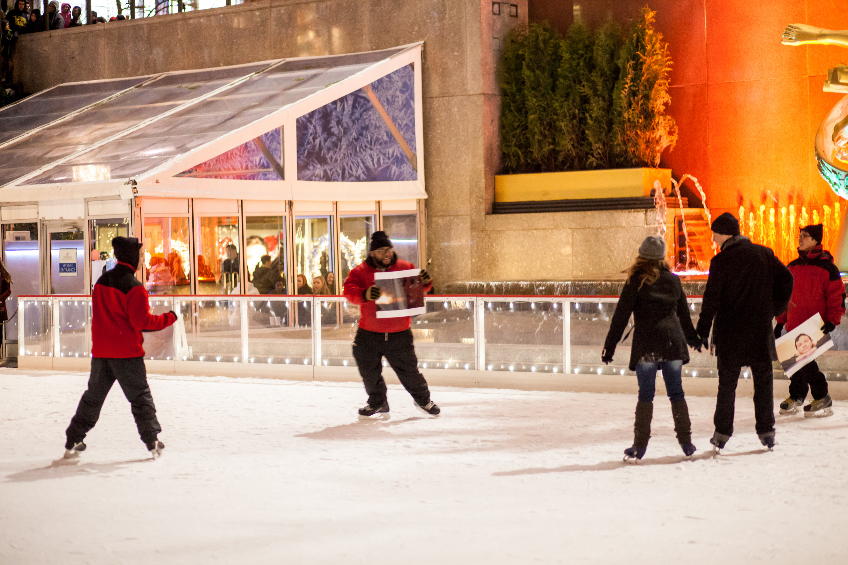 Image 3 of Christmas Day Proposal at Rockefeller Plaza