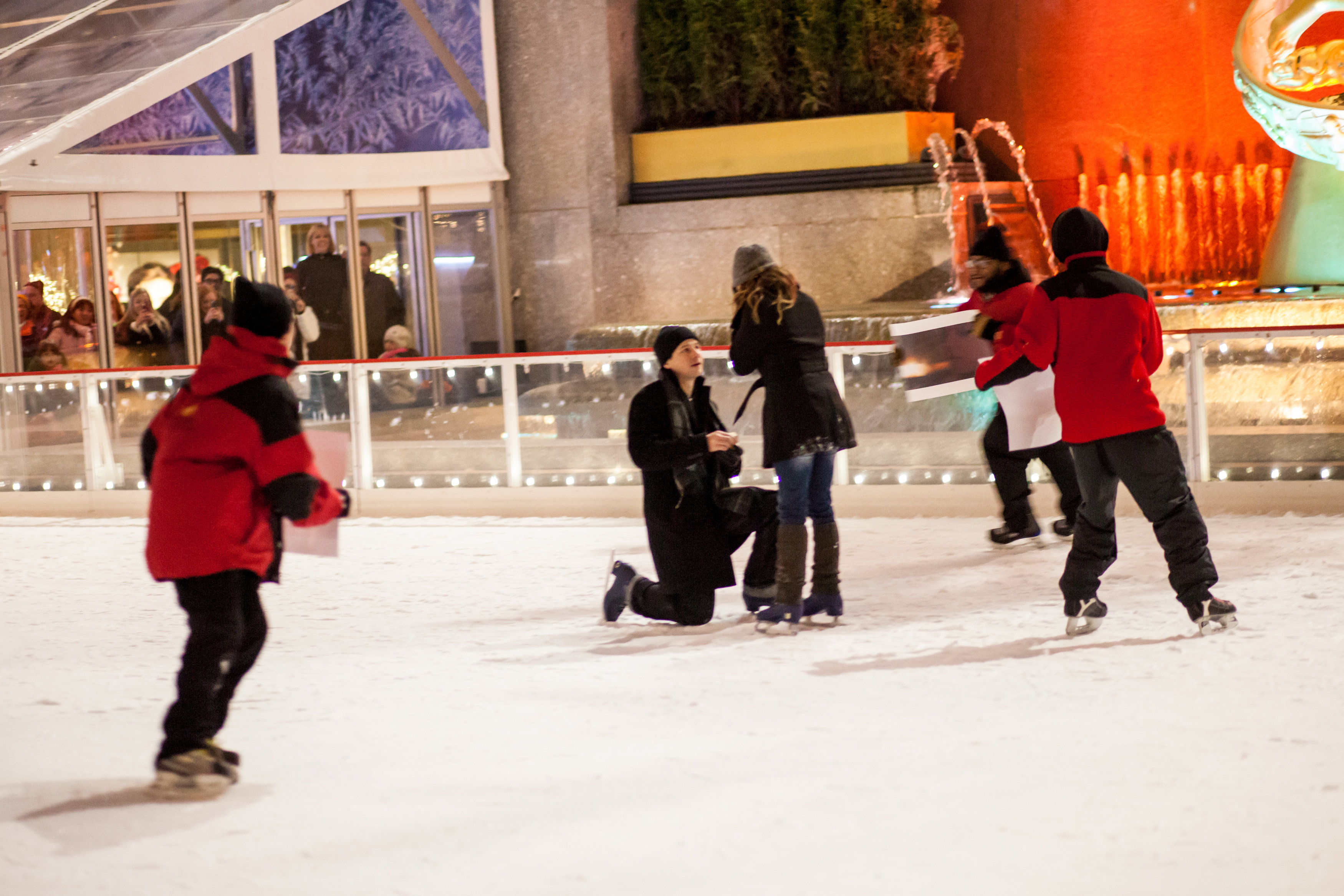 Image 7 of Christmas Day Proposal at Rockefeller Plaza