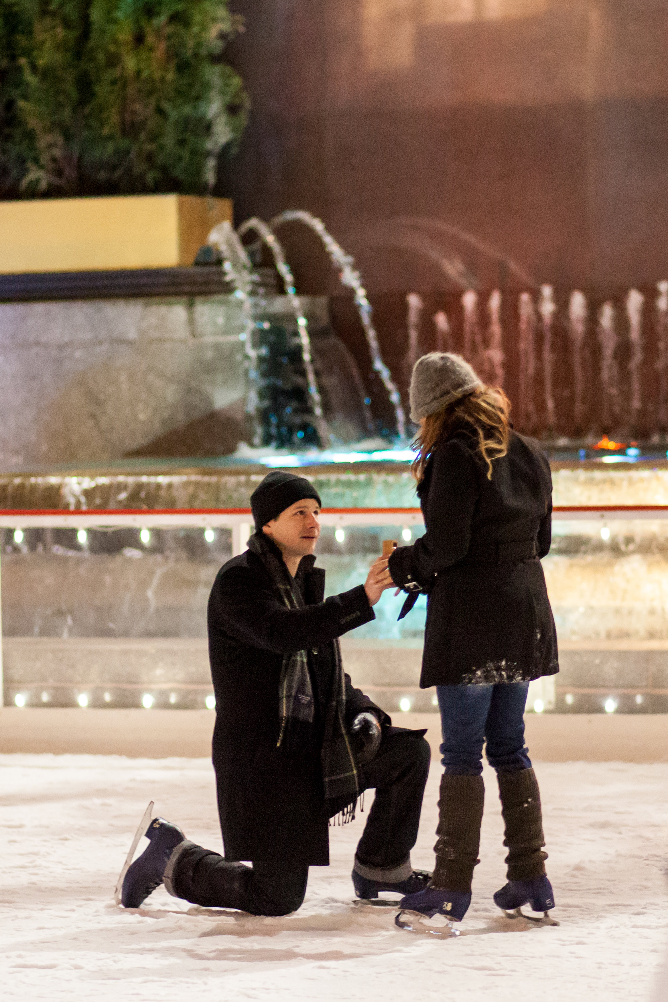 Image 6 of Christmas Day Proposal at Rockefeller Plaza