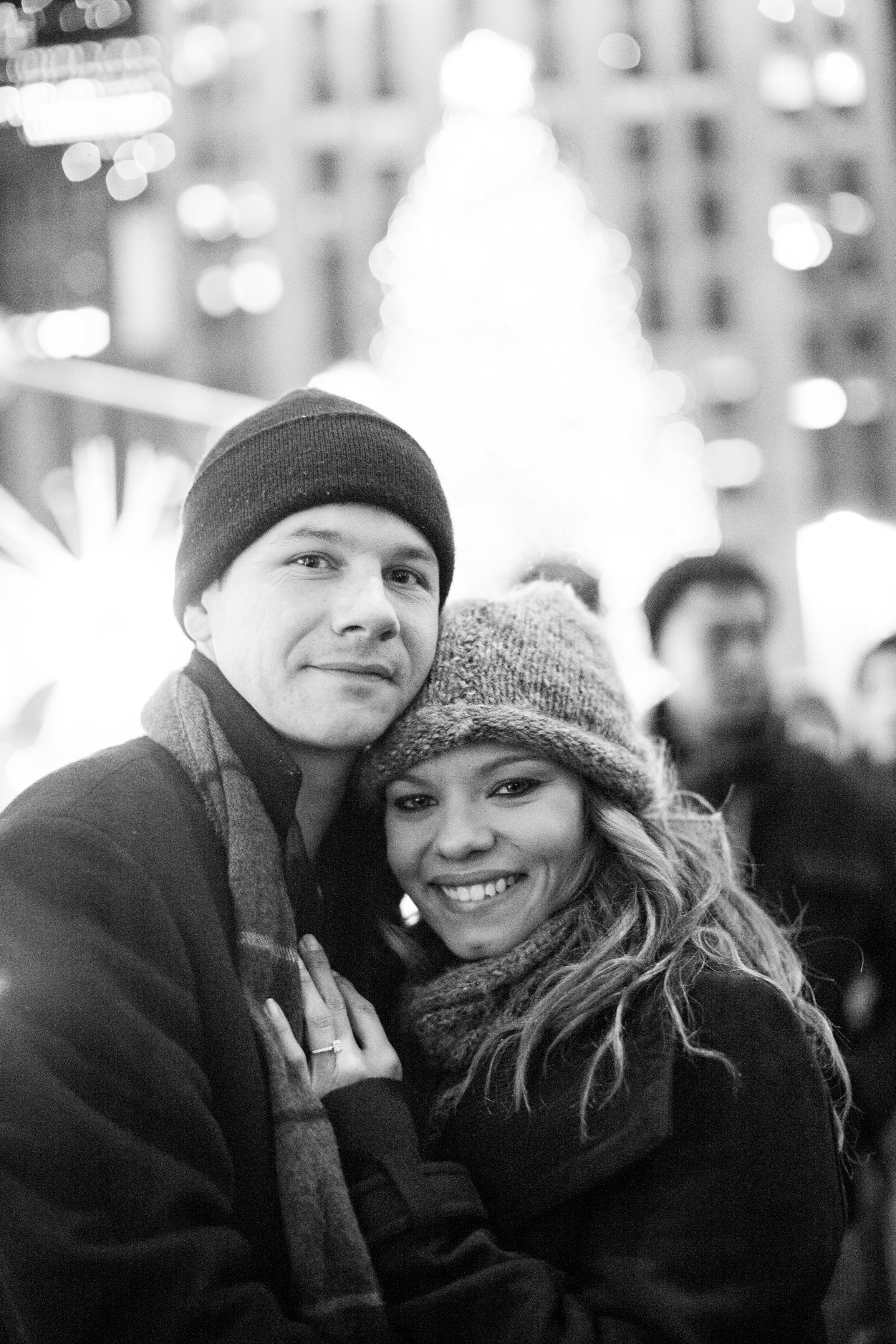 Image 10 of Christmas Day Proposal at Rockefeller Plaza