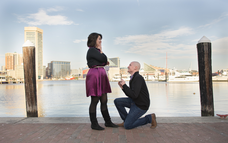 Image 2 of Baltimore Harbor Marriage Proposal