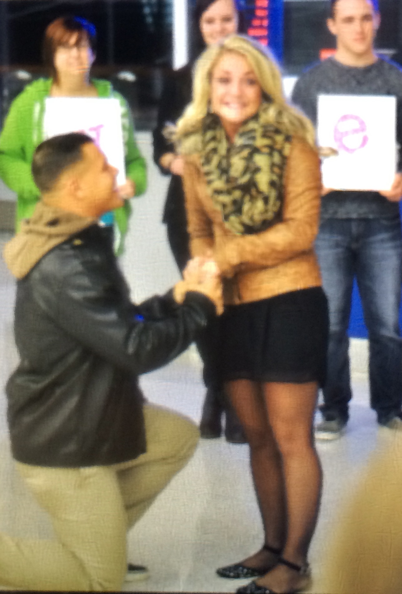 Image 3 of Gabrielle and Christian | Airport Proposal