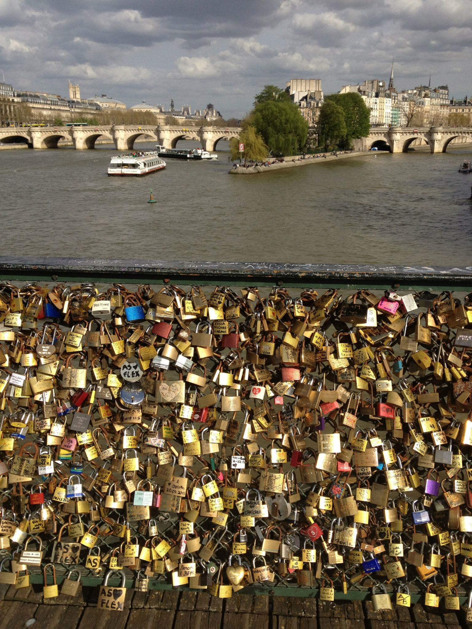 Love lock bridge proposal in paris for Locks on the bridge in paris