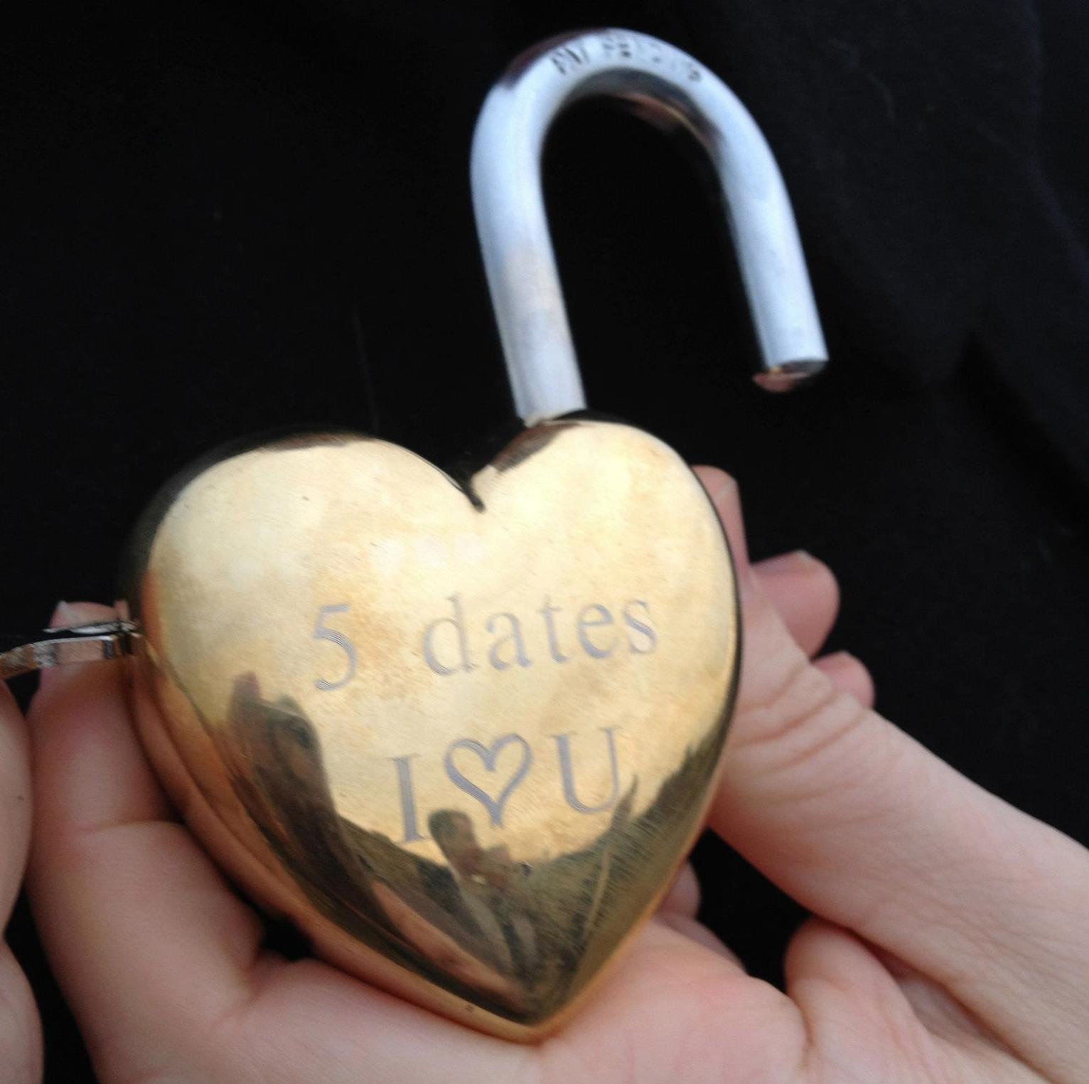 Love Lock Bridge Proposal