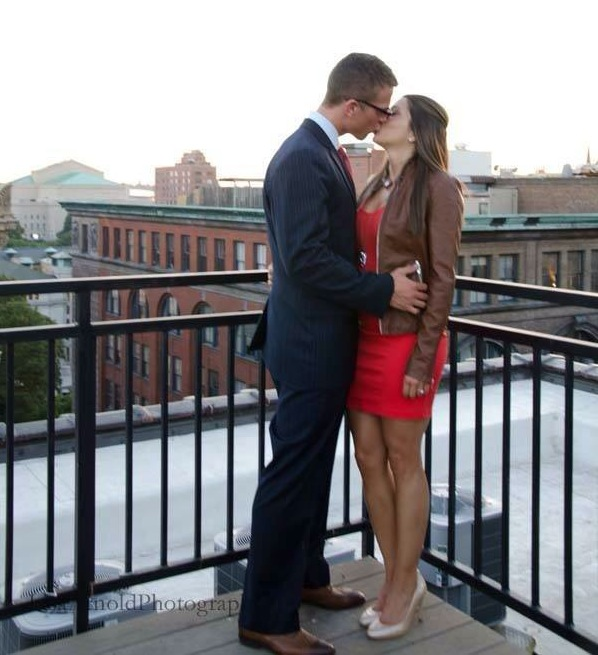 Image 1 of Bailey and Logan | Rooftop Serenade Proposal