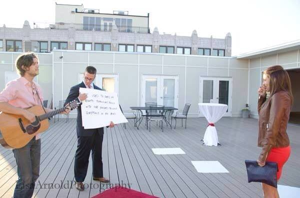 Image 5 of Bailey and Logan | Rooftop Serenade Proposal