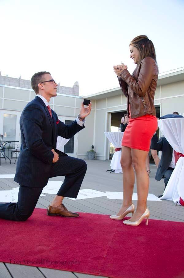 Image 6 of Bailey and Logan | Rooftop Serenade Proposal