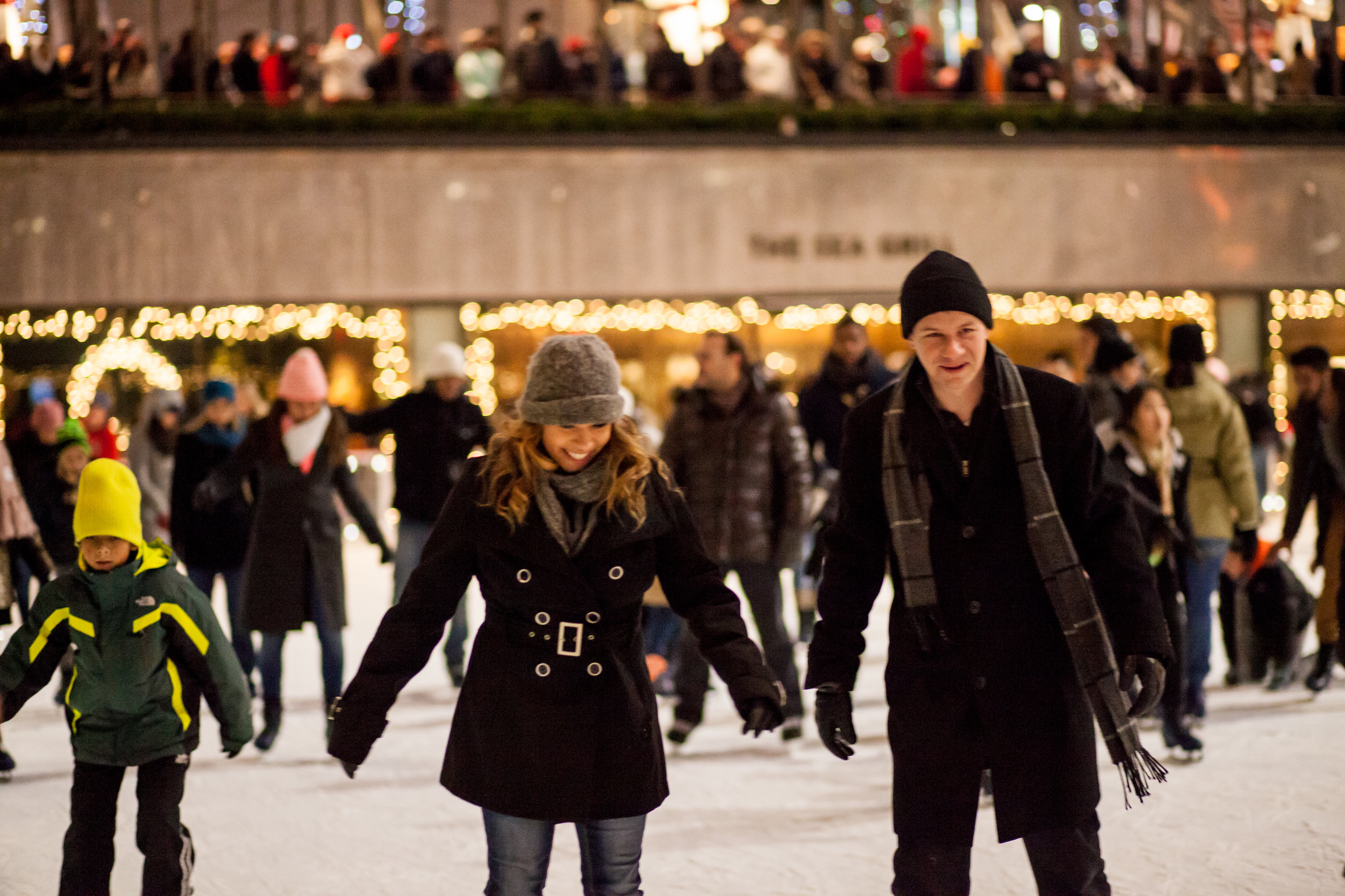 Image 1 of Christmas Day Proposal at Rockefeller Plaza