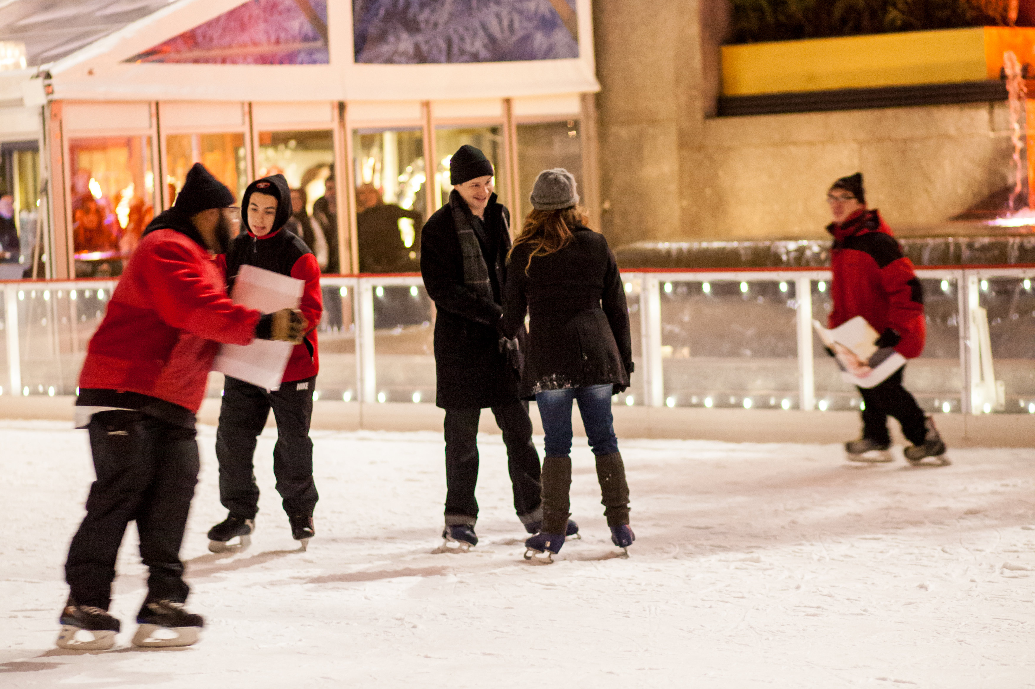 Image 4 of Christmas Day Proposal at Rockefeller Plaza