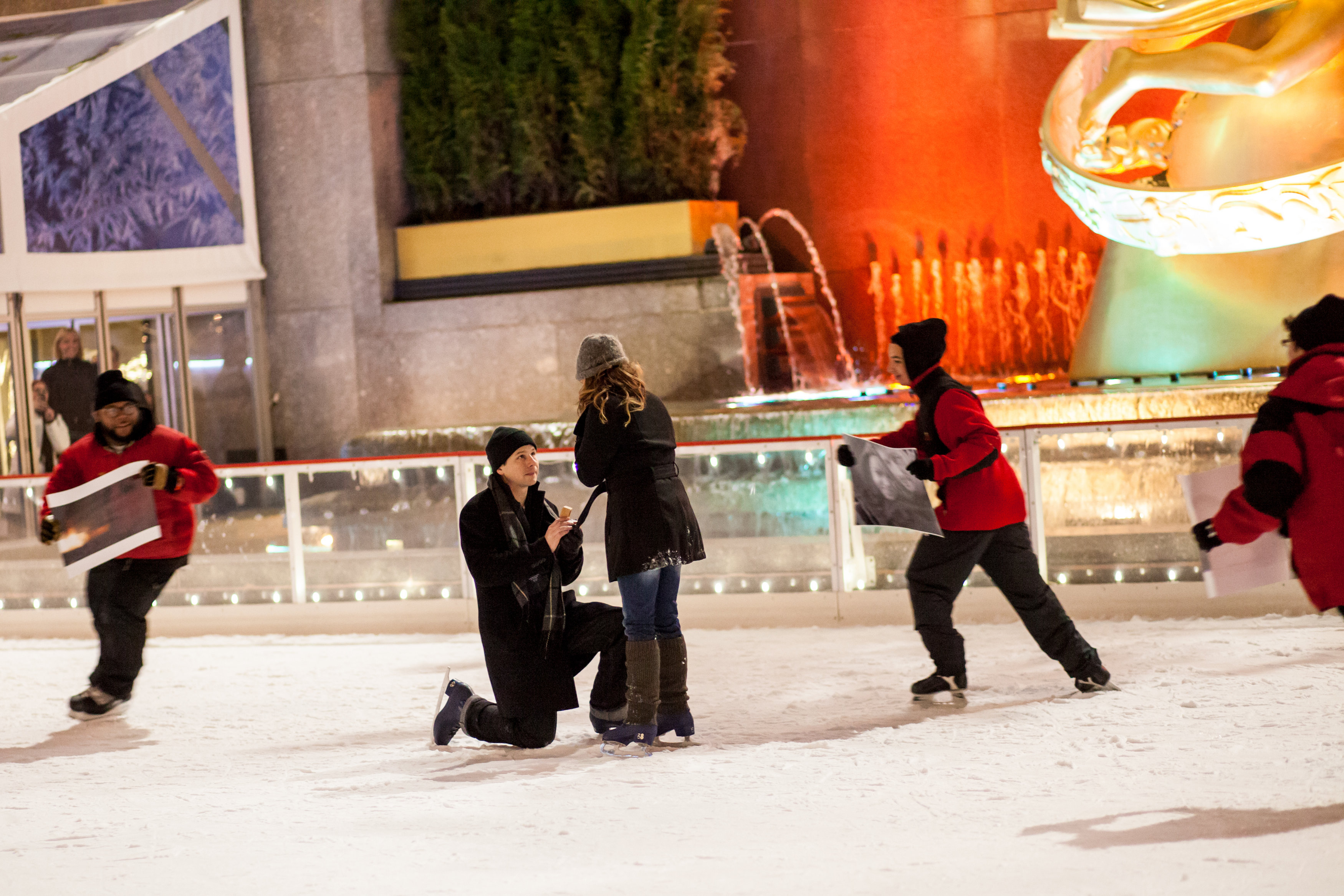 Image 5 of Christmas Day Proposal at Rockefeller Plaza