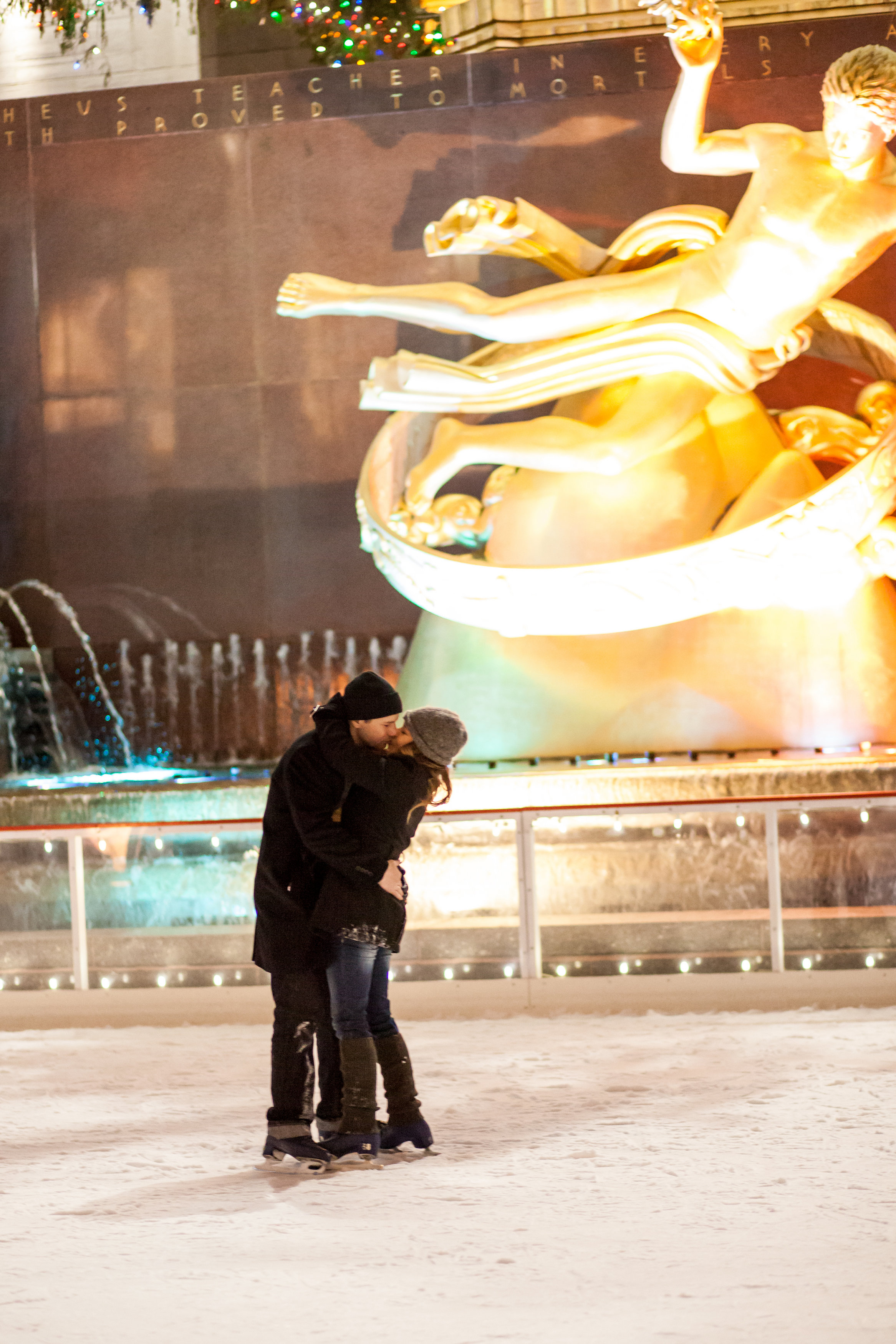 Image 8 of Christmas Day Proposal at Rockefeller Plaza