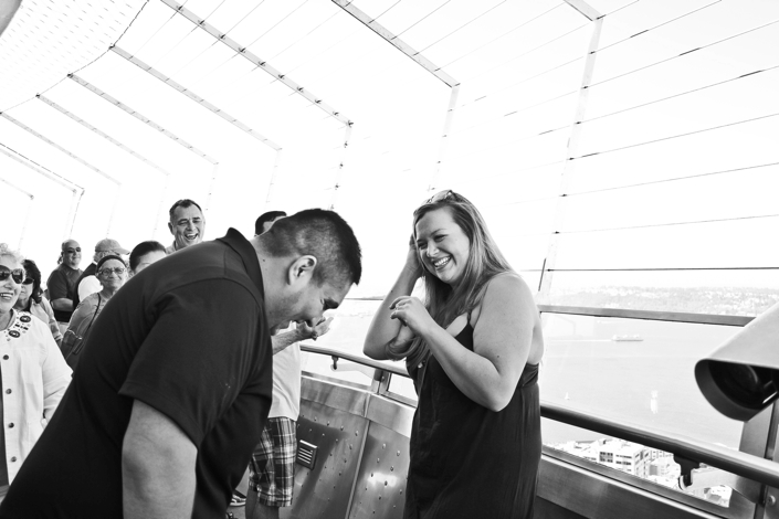 Image 1 of Colette and Ross | Proposal at the Seattle Space Needle