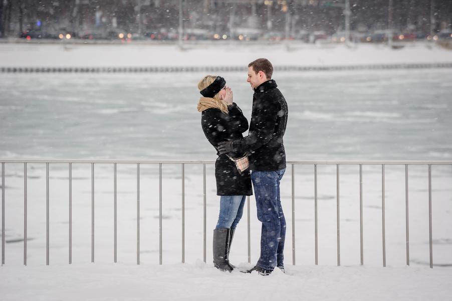 Image 5 of A Snowy Proposal in Chicago