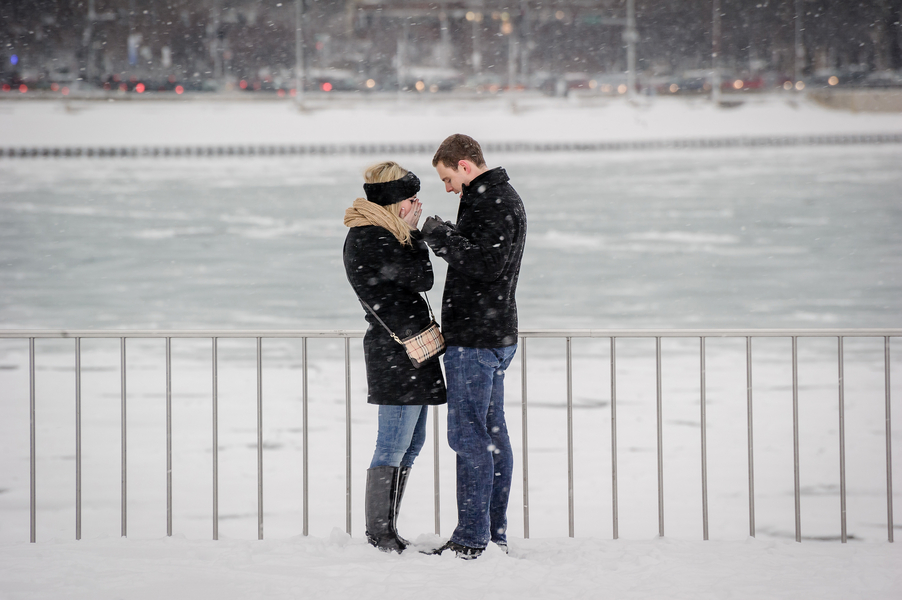 Image 6 of A Snowy Proposal in Chicago