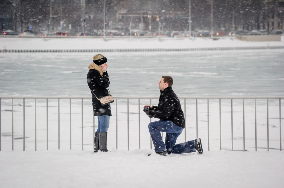 Image 7 of A Snowy Proposal in Chicago