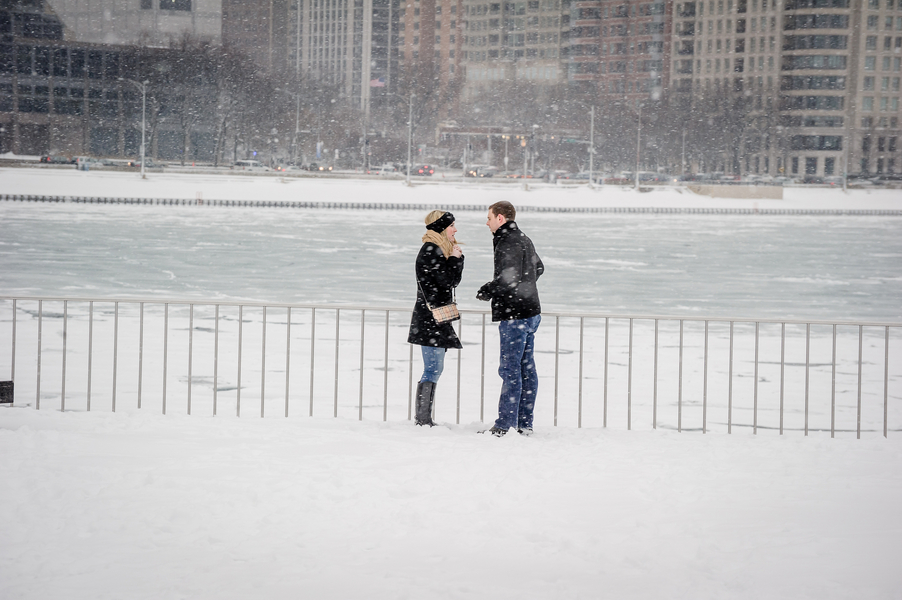 Image 4 of A Snowy Proposal in Chicago