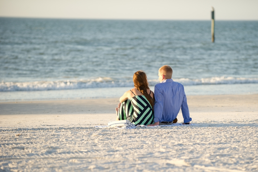 Clearwater Beach Marriage Proposal_ engagement photos during sunset_08_low