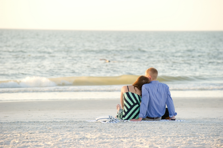 Clearwater Beach Marriage Proposal_ engagement photos during sunset_12_low