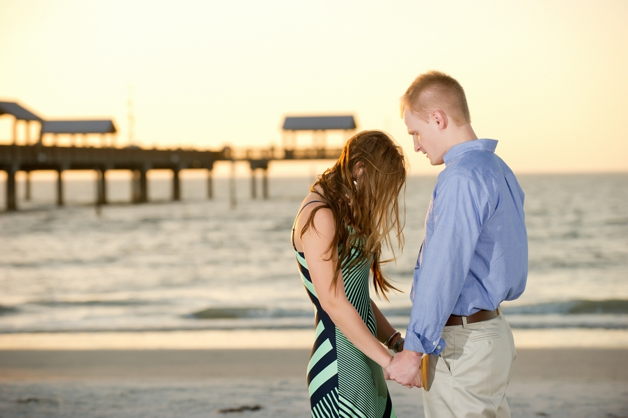 Clearwater Beach Marriage Proposal_ engagement photos during sunset_22_low