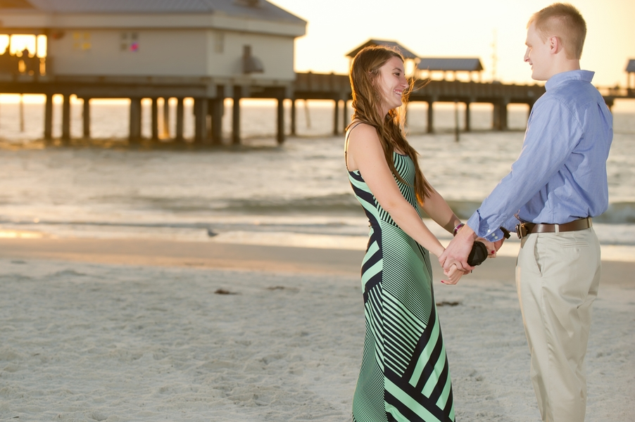 Clearwater Beach Marriage Proposal_ engagement photos during sunset_24_low